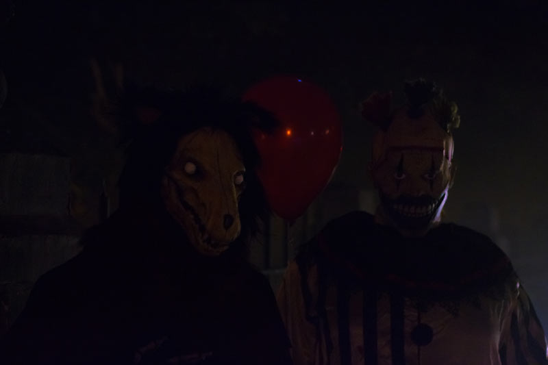 Night View Halloween Graveyard with PennyWise Clown and Wolf Creature