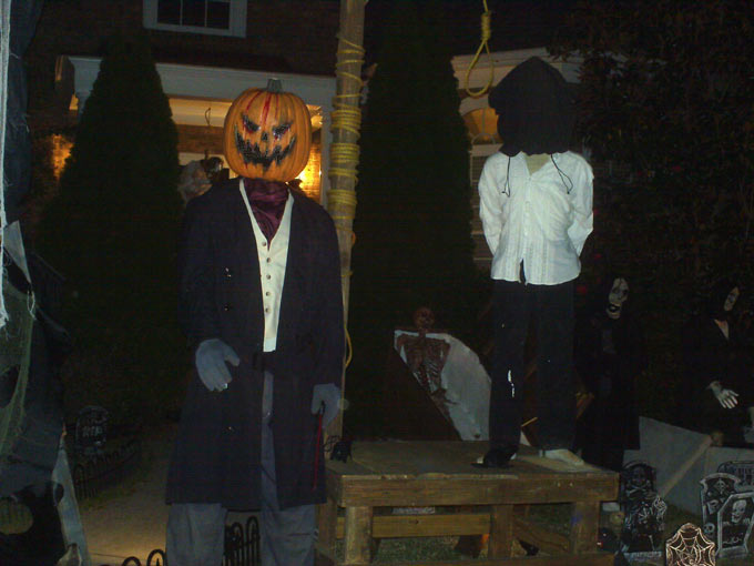 Haunted Halloween Scene At Night