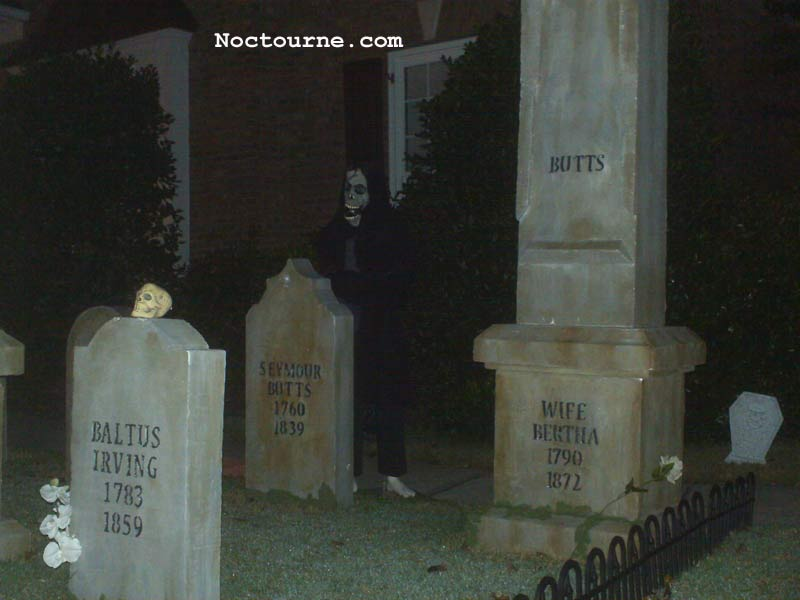 Halloween Scene Corpse in Coffin, GraveYard Ghoul and Crypt Zombie